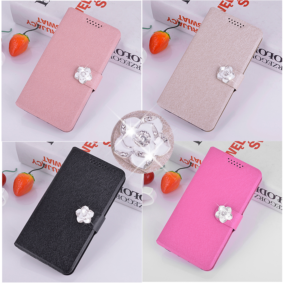 Silk Leather Case for <font><b>Nokia</b></font> 215 Asha 225 N225 216 Dual Sim/Lumia 150 <font><b>230</b></font> Dual SIM Luxury Flower Wallet Phone Protect Cover Case image