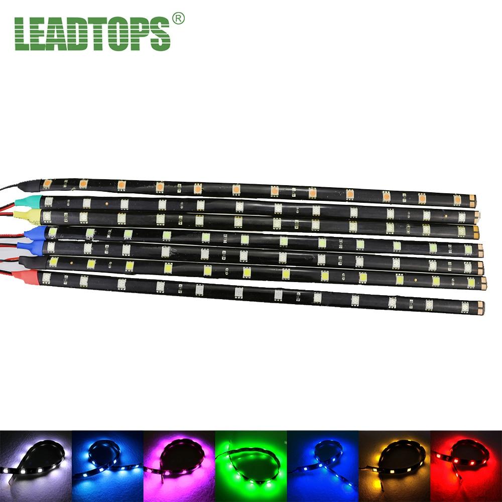 2Pcs/Lot SMD LED 5050 Flexible Waterproof Lights Strip Car Auto Decorative Flexible LED Strips Lamps high bright Car CJ