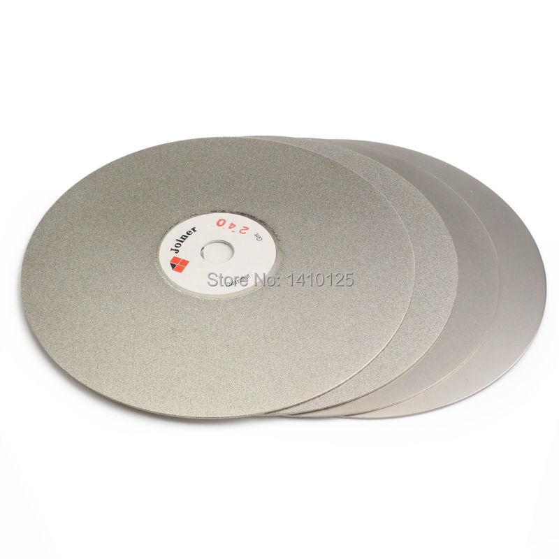 4Pcs 6 inch Grit 240 320 600 1200 Diamond Grinding Disc Coated Flat Lap Disk Abrasive