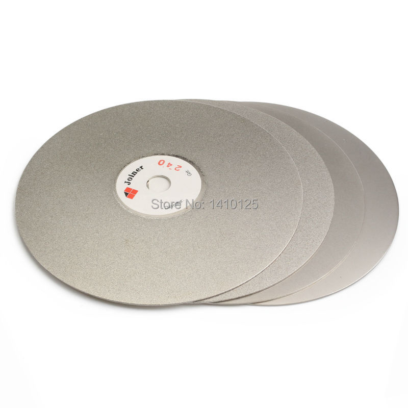 """4Pcs 6"""" inch Grit 240 320 600 1200 Diamond Grinding Disc Coated Flat Lap Disk Abrasive Wheel for Gemstone Jewelry Lapidary Tools-in Abrasive Tools from Tools    1"""