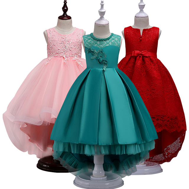 4fd6b00fcc 2018 vestido de verano para niñas vestidos de cola larga para niñas vestido  de princesa de