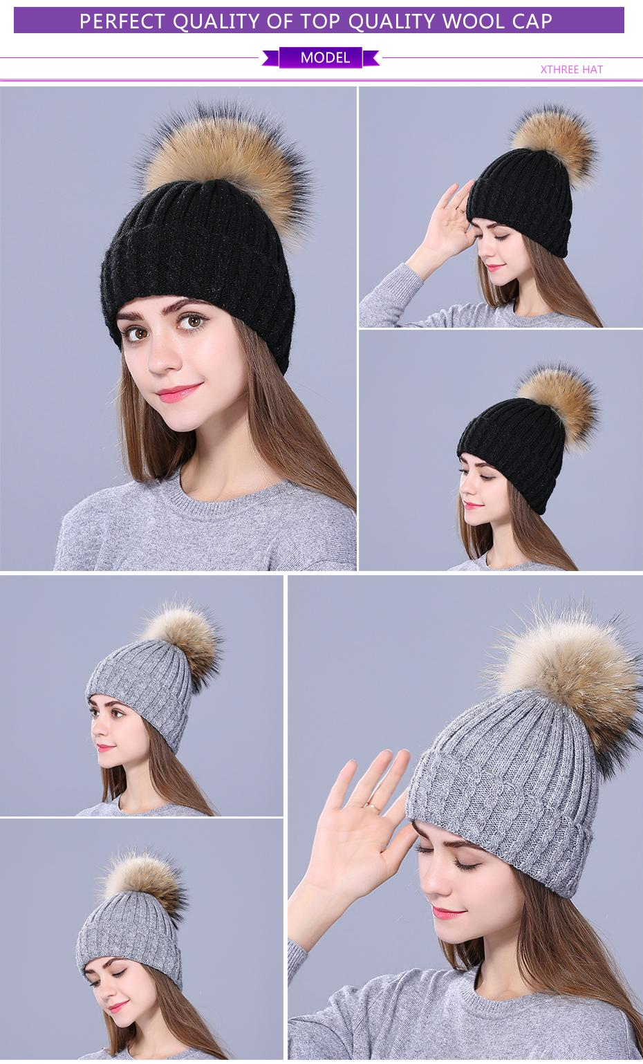 Xthree new Rhinestone embroidery Winter Wool Knitted Hat for Women... 4000e3bed528