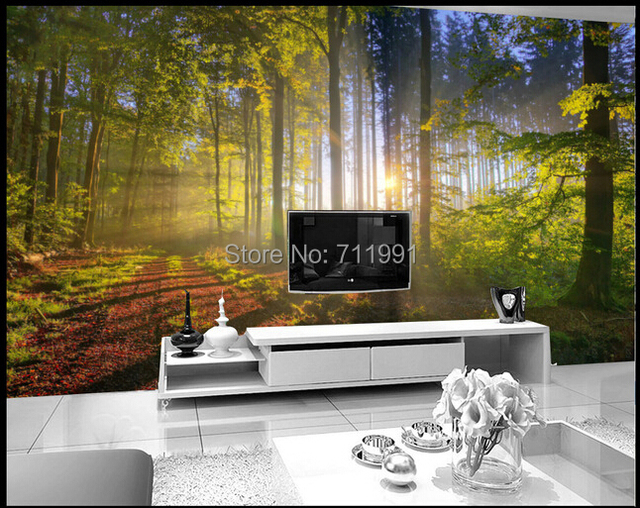 Buy 3D stereoscopic TV wall murals living room sofa background ...