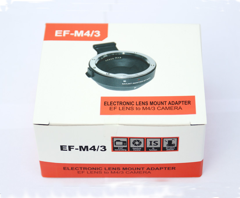 цена на EF-MFT Electronic Aperture Control Lens Mount Adapter for Canon EF EF-S to Olympus E-P1 P2 3 Panasonic LUMIX GH2/3/4 M4/3 Camera