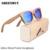 Mens Marca De Luxo Real Zebra Óculos De Armações De Madeira Logotipo Personalizado de Bambu Óculos De Sol Dos Homens Polarizados UV400 Lente de Óculos De Sol