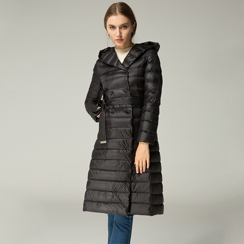 Aliexpress.com : Buy Vodiu Women Down Coat Thin Feather Parka ...