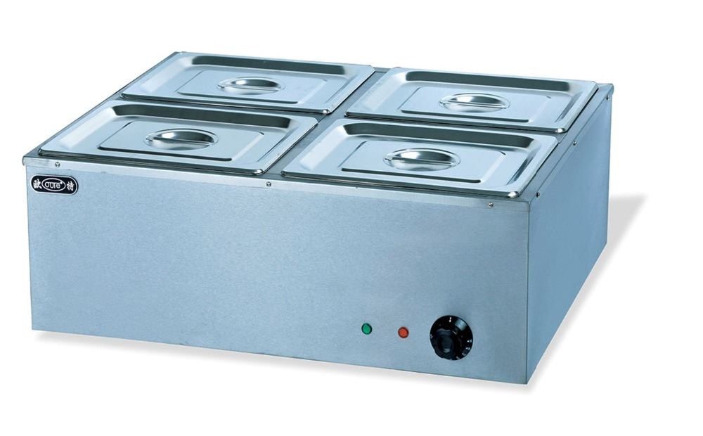 Electric 4 pans bain marie commercial tabletop food for Cuisson four bain marie