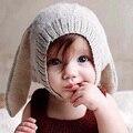 Chapéu de orelhas de coelho dos desenhos animados do bebê de malha cap infantil tampas de inverno da menina da criança boy acessórios newborn fotografia props chapéus do natal