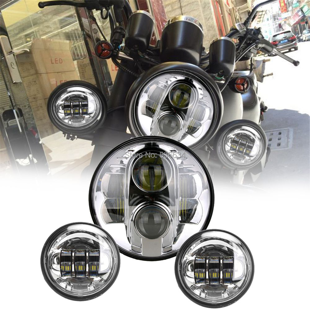 7 дюймовый светодио дный проектор фары Здравствуйте/ближнего света Matc Здравствуйте нг 4,5 дюйма светодио дный прохождения лампы противотума