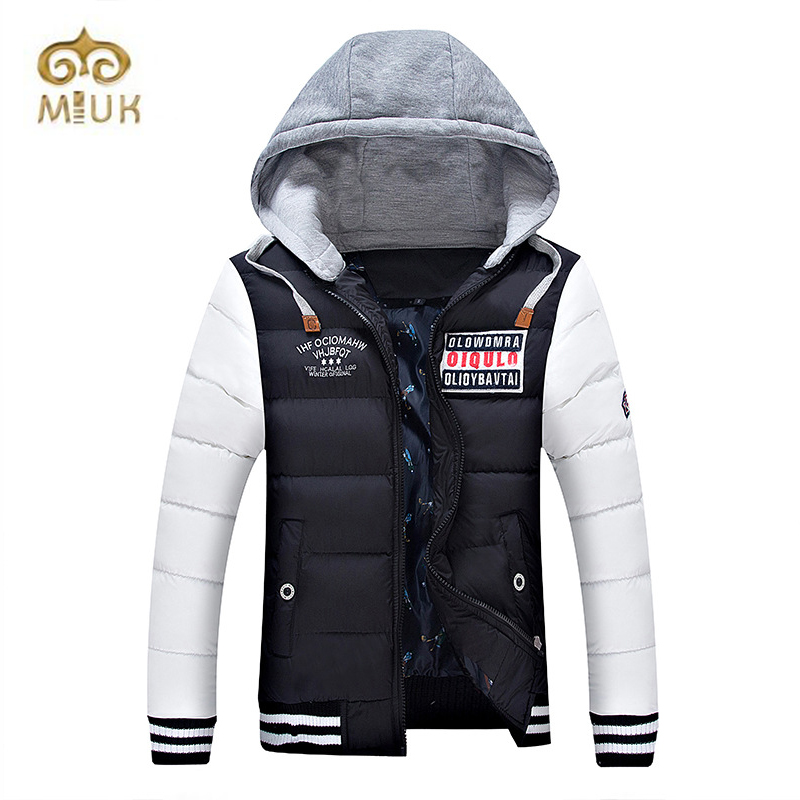 2016 Warm Fashion 3XL Big Size Hooded XXS Size Small Size Men Cotton Winter Jacket Jaqueta