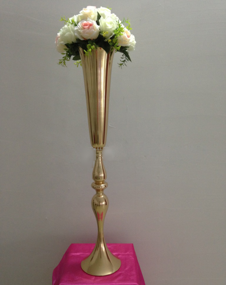 New Style Tall 88cm 347inch 8pcslot Fast Shipment Gold Wedding