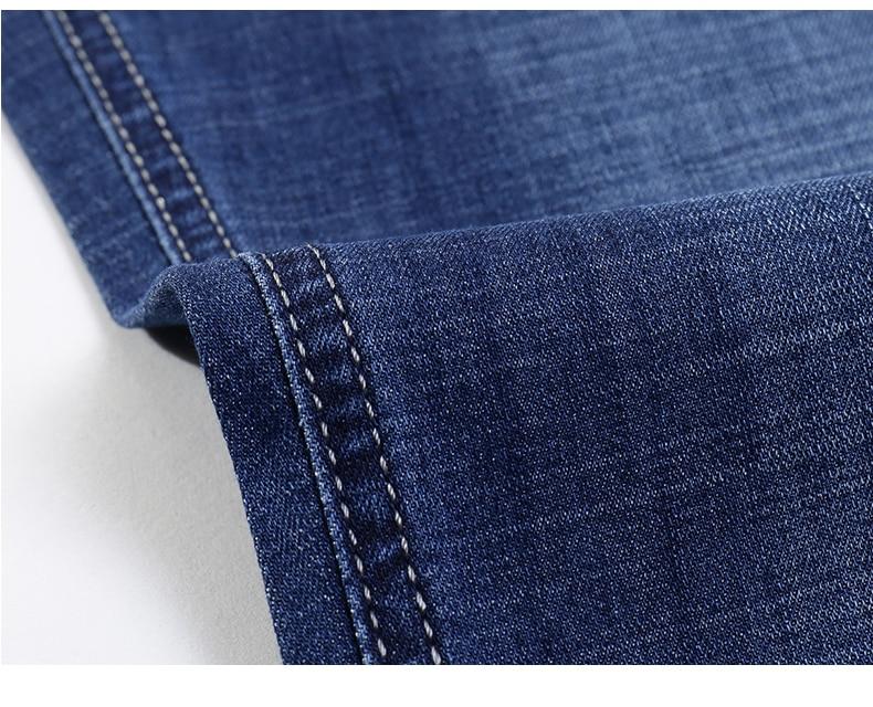 KSTUN Jeans for Men Summer Ultrathin Business Casual Straight Dark Blue Regular Fit Soft  Men's Clothes Businessman Denim Pants 18