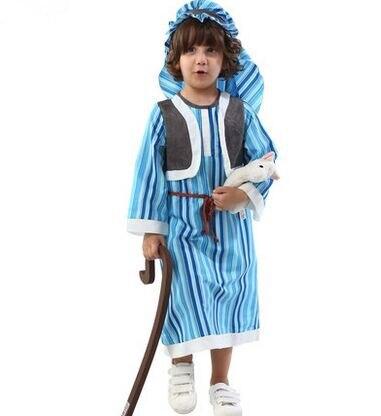 Chico traje árabe traje de rendimiento desgaste de los niños príncipe Árabe disfraces  halloween cosplay disfraces para niños azul árabe traje en Disfraces ... 1662ce6bef3e