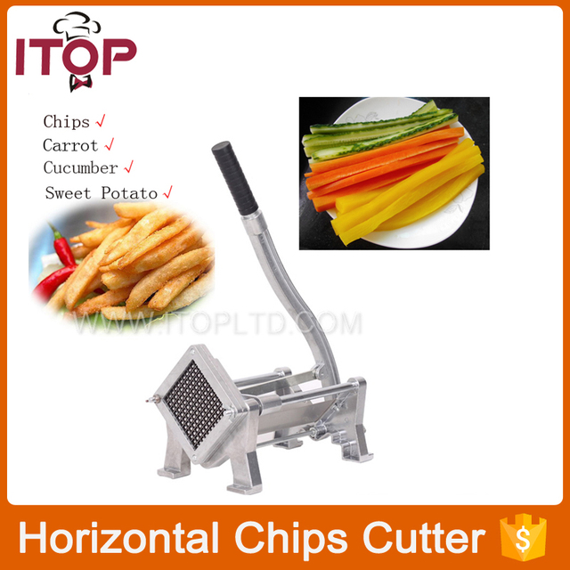 Horizontal French Fry Potato Cutters Chips 3 Blades Size Suction Feet Chips Cutter