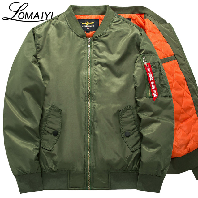 LOMAIYI S-8XL Padded Bomber Jacket Men Women Plus Size Pilot Coat With Zipper Winter Warm Men's Flight Windbreaker Jackets,BM006