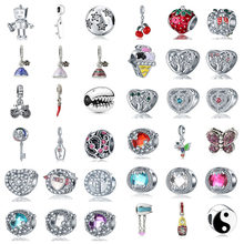 free shipping 1pc robot dress tree butterfly yinyang bicycle ice cream cross diy bead fit Original Pandora charms Bracelet S028(China)
