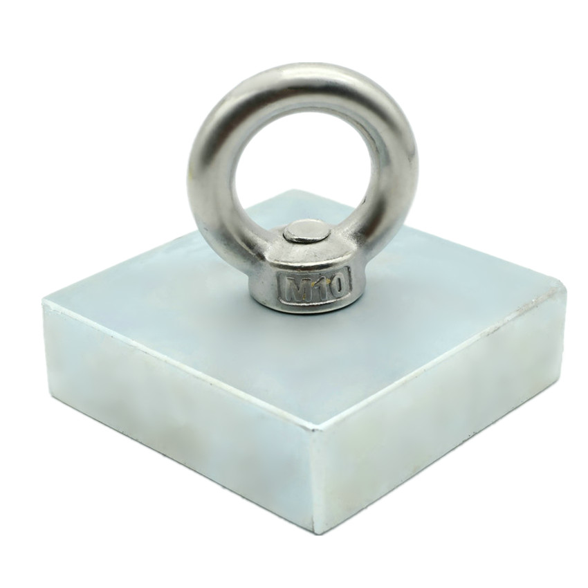 Big Block Mounting NdFeB Lifting Magnet 73x73x23 mm Screw Countersunk Hole Block N52 Strong Neodymium Rare Earth Magnetic 75mm