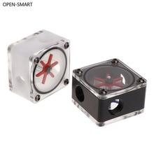 Открытый-умный 3-полосный индикатор расхода водяного охлаждения для ПК система водяного охлаждения G1/4 Thread