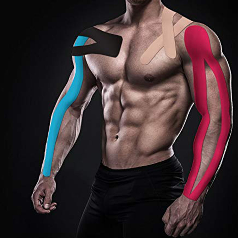 Kinesiology Athletic Tape <font><b>Sport</b></font> Recovery Tape Strapping Gym Fitness Tennis Running Knee Muscle <font><b>Injury</b></font> Protector image