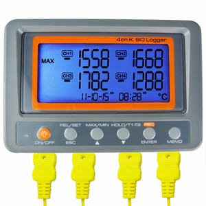 Image 1 - 4 Channel  328~2498 degree C/F K Type Thermocouple 8GB SD Card Temperature Wallmount Thermometer Logger