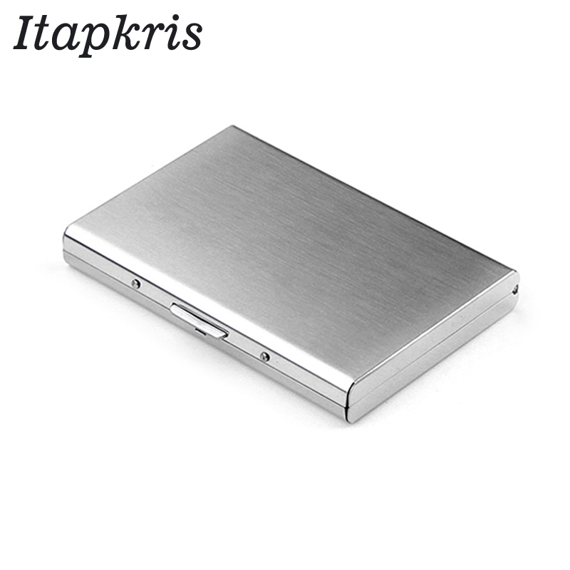Stainless Steel Bank Credit Card Holder For Men Anti Protect Travel ID Cardholder Women Rfid Wallet Metal Case Porte Carte