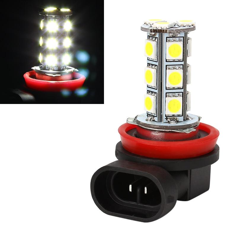 LED 5050 18 H11 H8 SMD LED Fog Lamps For Cars Bulb Headlight Car-styling White Driving Light