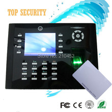 TCP IP fingerprint time attendance and access control webserver RFID card door control with camera and