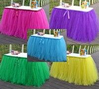 Mehr Farben Handmade Tüll Tutu Table Rock Organza Weihnachten Hochzeit Veranstaltungs Geburtstag Party Zeichen Tischdekoration Anpassen