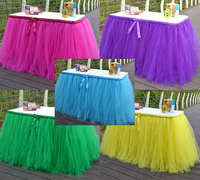 More Colors Handmade Tulle Tutu Table Skirt Organza Christmas Wedding Banquet Birthday Party Sign Table Decorations Customize
