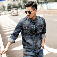 Men'S Denim Jackets Vintage Spring Jean Outerwear Mens Fashion Slim For Motorcycle Denim Jaqueta Jeans Masculina A1688