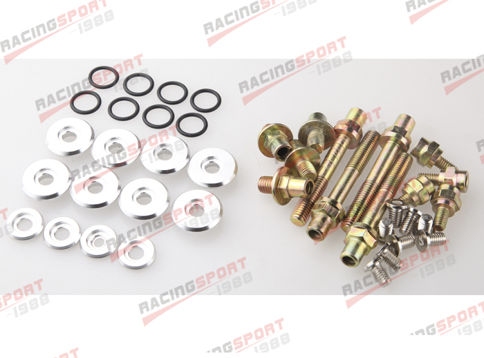 SILVER LOW PROFILE VALVE COVER HARDWARE KIT FOR HONDA B16 B17 B18 VTEC