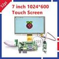 7 Дюймов 1024*600 Модуль TFT ЖК-Монитор С Сенсорным Экраном + Водитель Борту HDMI VGA 2AV для Raspberry Pi