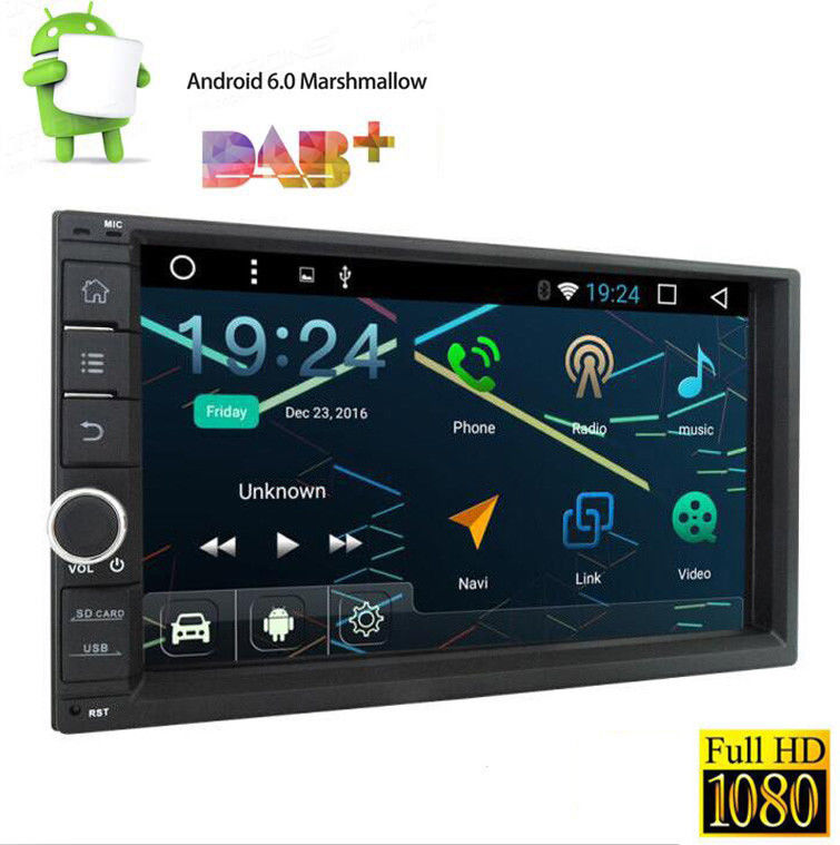 7 HD Car Stereo RAM:2GB 2Din Android 6.0 4Core GPS NAV OBD2 WIFI NO DVD Player