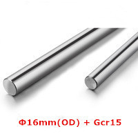 OD16mm*0.5m Chrome Plated  Linear  Precison Rail Round Rod Shaft Linear Motion Shaft 3mm-150mm Gcr15, Carbon 45 or stainless