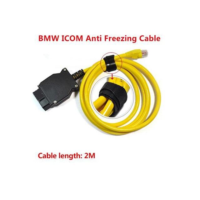 Ethernet do OBD dla BMW serii F kabel ENET E SYS ICOM 2 kodowanie netto złącze OBD kabel sieciowy bez CD