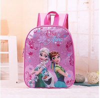 2017 New Kids Cartoon Elsa Anna Schoolbag Girls Princess Cute School Bag Sofia Kindergarten Backpacks