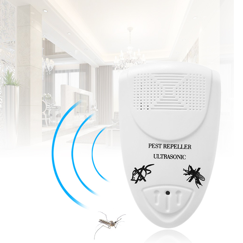 Electronic Ultrasonic Repeller US Plug Insect Repellent Pest Control For Mosquitos Mouse Spiders Ants Flies Mosquito Killer