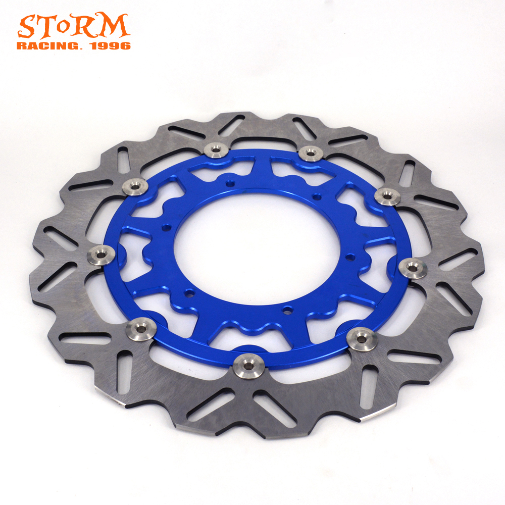 320MM Front Floating Brake Disc Rotor For YAMAHA WR250 YZ250 YZF250 YZ250F WRF250 WRF426 YZ426F WR450F YZ450F YZ450F WR426F YZF keoghs real adelin 260mm floating brake disc high quality for yamaha scooter cygnus modify