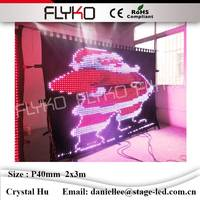 Concert backdrops stage fashion foldable P40mm 2x3m led video cloth waterproof led fabric vision curtains