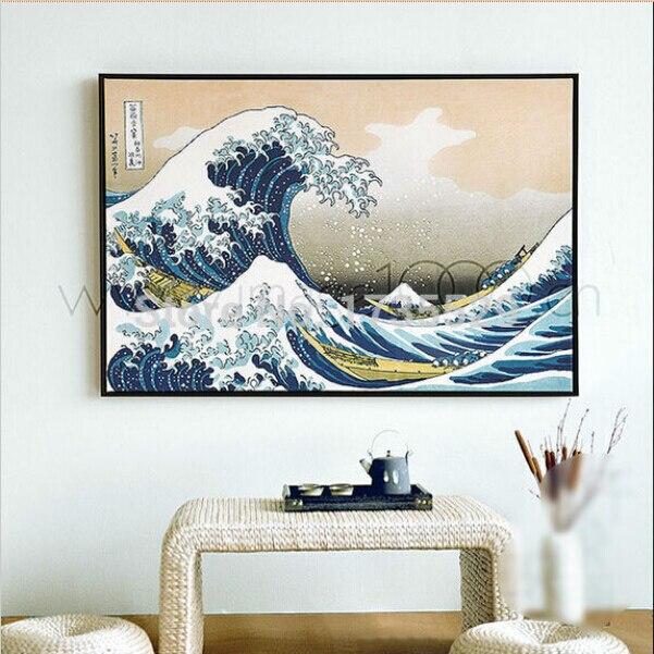 Hokusai The Great Wave off Kanagawa CANVAS WALL ART CANVAS ARTWORK PRINT
