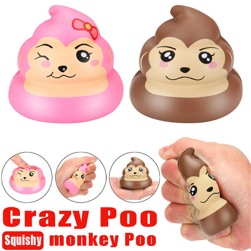 Exquisite Fun Monkey Poo Scented Squishy Charm Slow Rising Stress Reliever Toy For Children Adults Relieves Stress Anxiety Decor