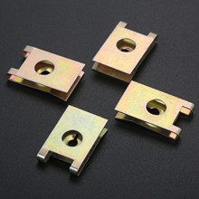 20Pcs Auto Fastener Clip Schraube Basis U Typ J98 Mutter Montage Verschluss Clips Automobil Motor Fender Bumper Schutz Platte clamp 3mm