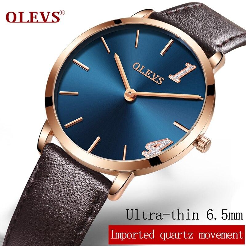 все цены на OLEVS Luxury top brand Watches women fashion relogio feminino rose gold Ultra-thin Genuine belt quartz watch 1314 meaning:a life онлайн