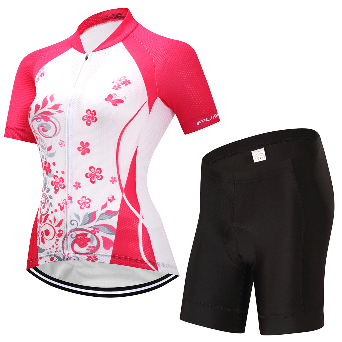 2017 Pro Cycling Jersey Set Girls Summer MTB Road Bike Bicycle Jersey Breathable Sponge Padded Cycling Clothing