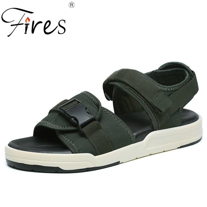 Fires Men Summer Sandals New Trend Casul Shoes Breathable Cool Couple Beach Sandias Non-slip Soles Unisex Cool Loafer Shoes