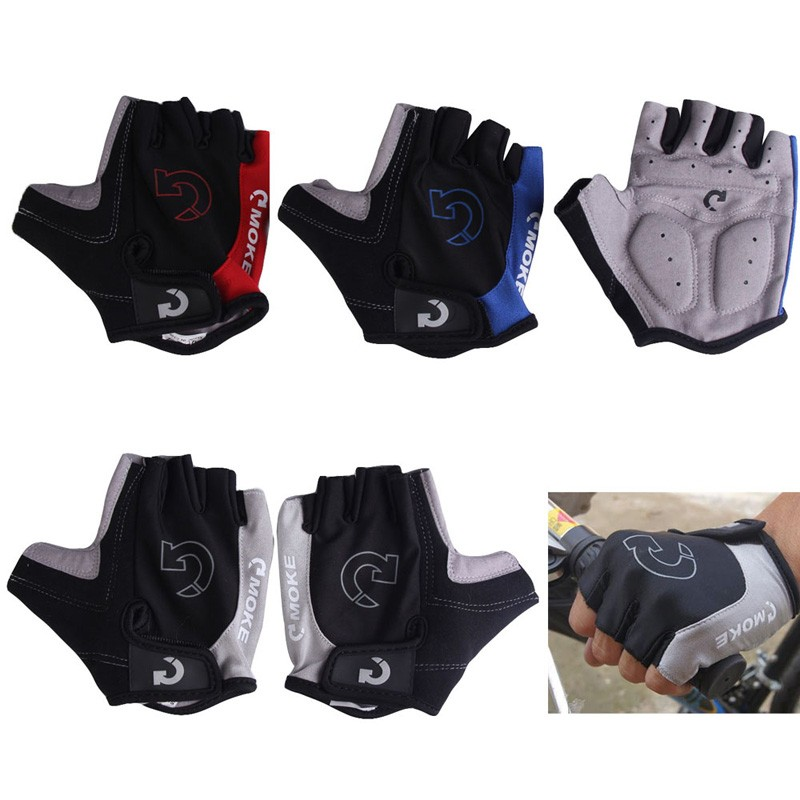 1Pair Half Finger Cycling Gloves Anti-Slip Gel Bicycle Riding Gloves Anti Slip