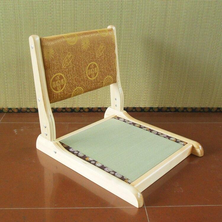 ФОТО (2pcs/lot)Japanese Tatami Chair Removable Cushion Seat Natural Finish Folding Leg Living Room Furniture Floor Legles Zaisu Chair