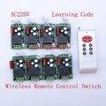 Free Shipping 8CH 220V light switch ON/OFF Digital Wireless Radio RF Wireless Remote Control Switch System