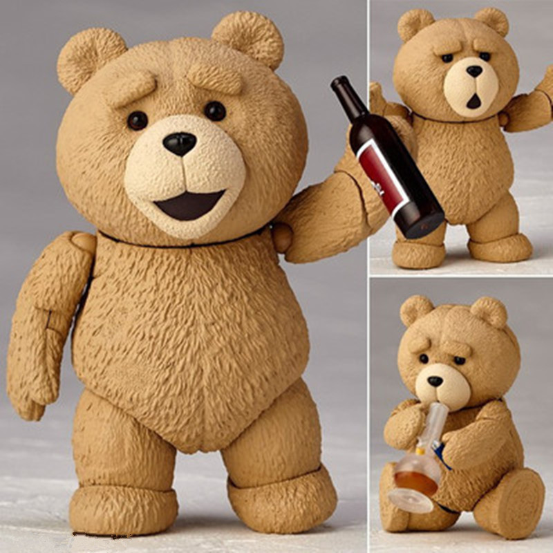 new Movie TED 2 Teddy Bear PVC Action Figure Collectible Model Toy 10cm The joints can move A toy doll for a friend games illidan 14 pvc action figure collectible model toy 4 10cm kt2242