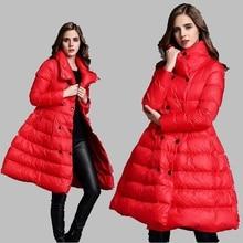 2017 Winter Women Jacket High quality Down Jacket Fashion Medium Long Cotton Coat Jacket Thick Casual Large size Jacket AB156